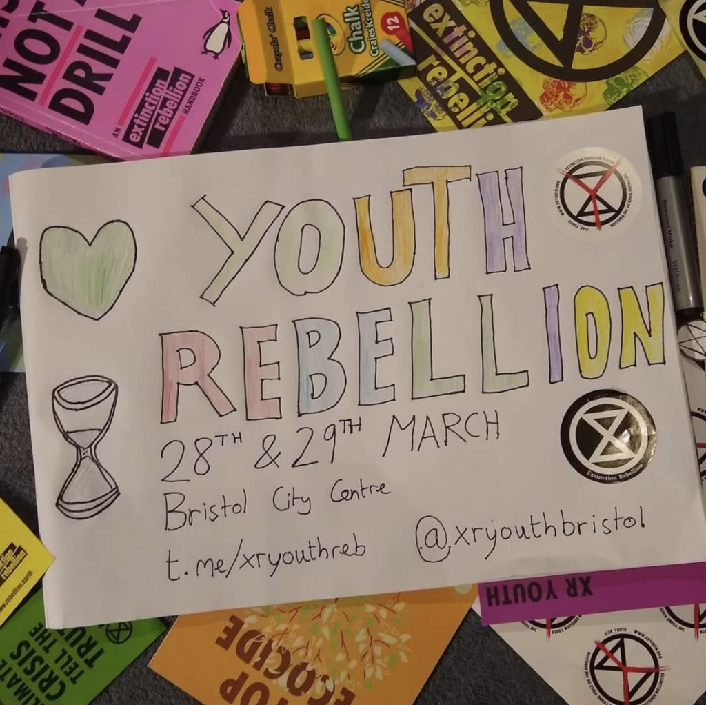 Youth rebellion 28th & 29th March, Bristol City Centre.