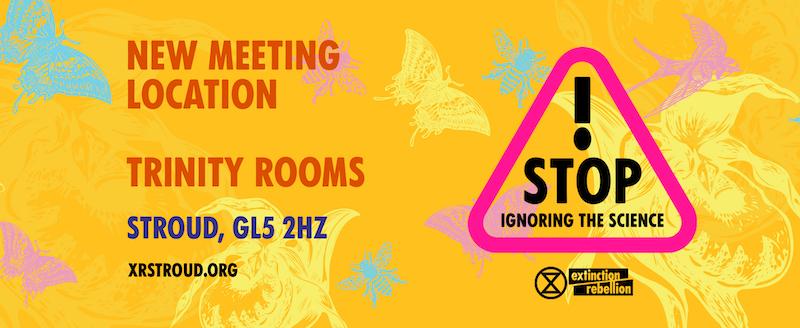 New meeting location, trinity rooms Stroud GL5 2HZ